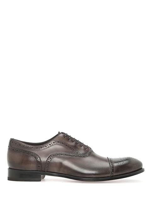 Beymen Collection %100 Deri Bağcıklı Klasik Ayakkabı Füme